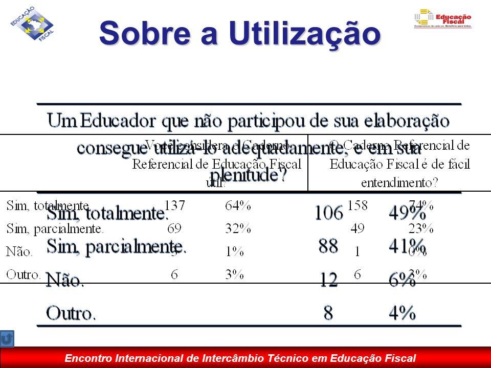 Encontro Internacional de Intercâmbio Técnico em Educação Fiscal Sobre a Utilização