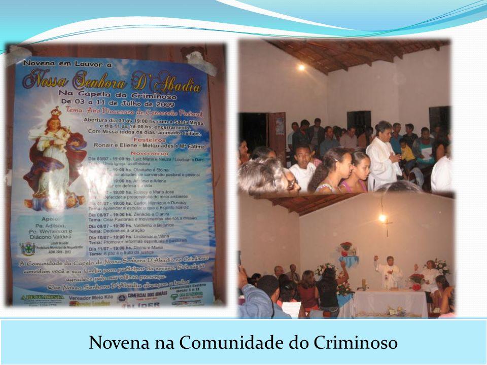 Novena na Comunidade do Criminoso