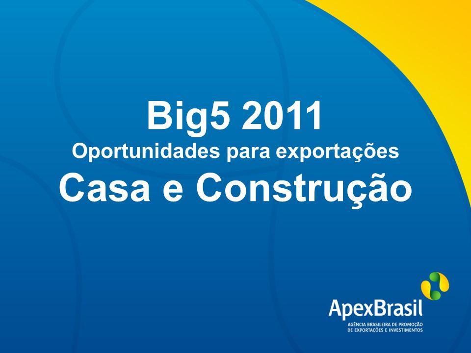 Título da apresentação Big5 2011 Oportunidades para exportações Casa e Construção