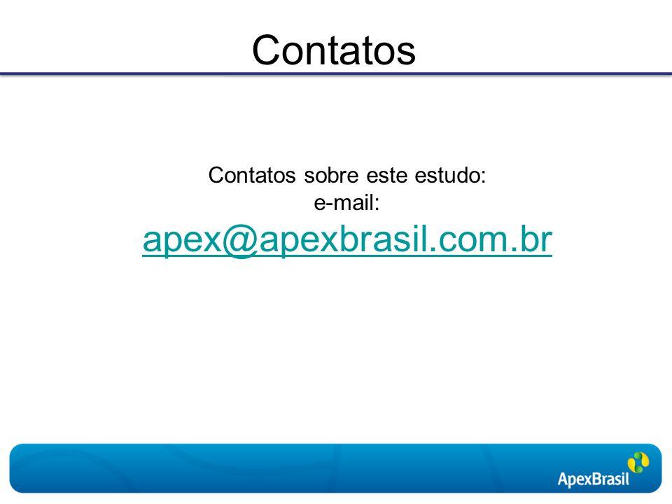 Contatos Contatos sobre este estudo: e-mail: apex@apexbrasil.com.br