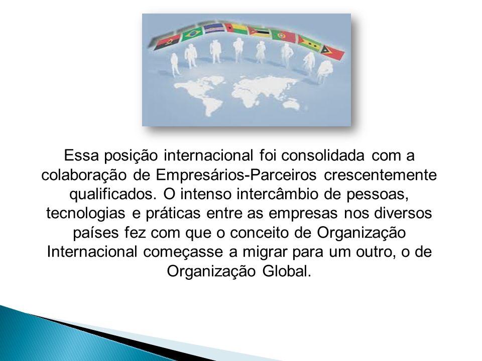 Essa posição internacional foi consolidada com a colaboração de Empresários-Parceiros crescentemente qualificados. O intenso intercâmbio de pessoas, t