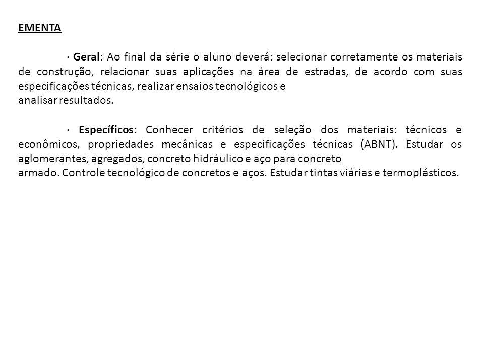CONTEÚDO UNIDADE 1: CRITÉRIOS DE SELEÇÃO DOS MATERIAIS 1.1.