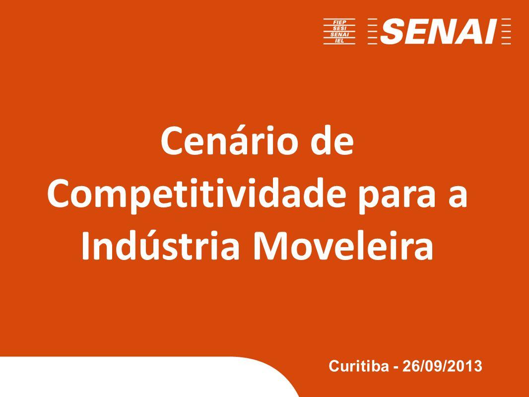 Cenário de Competitividade para a Indústria Moveleira Curitiba - 26/09/2013