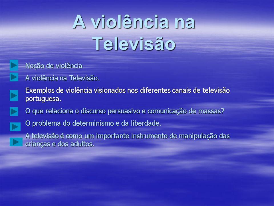 IntroduçãoNós alunos do 10ºI, vamos expor o nosso trabalho de projecto com o tema A violência na Televisão. Este trabalho consiste em dizermos, o que