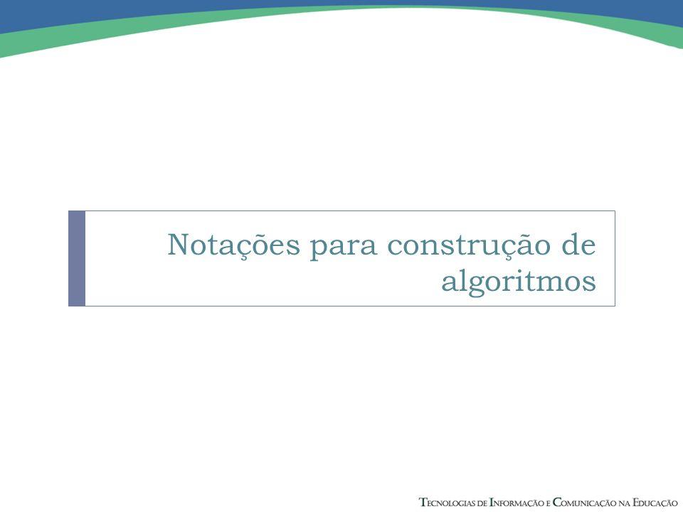 Notações para construção de algoritmos