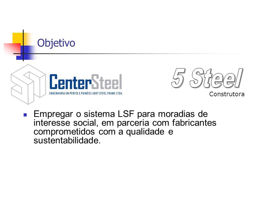 Objetivo Empregar o sistema LSF para moradias de interesse social, em parceria com fabricantes comprometidos com a qualidade e sustentabilidade. Const