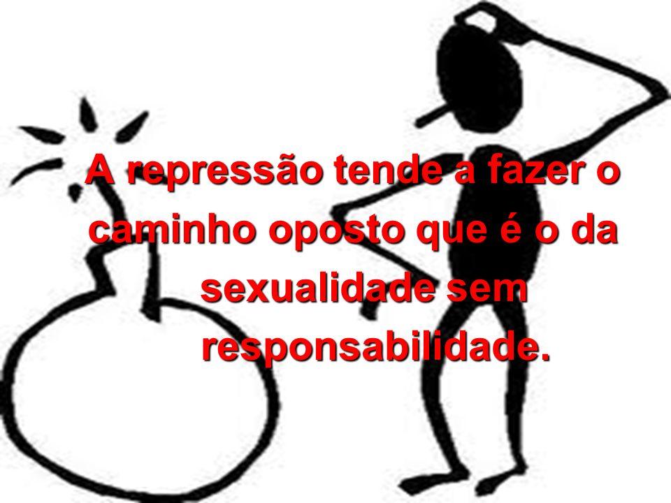 A repressão tende a fazer o A repressão tende a fazer o caminho oposto que é o da caminho oposto que é o da sexualidade sem sexualidade sem responsabi