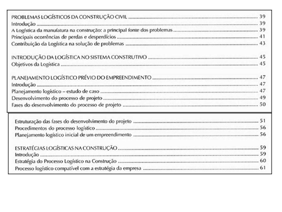 ESTRATÉGIA DO PROCESSO LOGÍSTICO NA CONSTRUÇÃO Otimizar recursos físicos, operacionais e financeiros principalmente coordenando atividades inter- dependentes e isoladas.