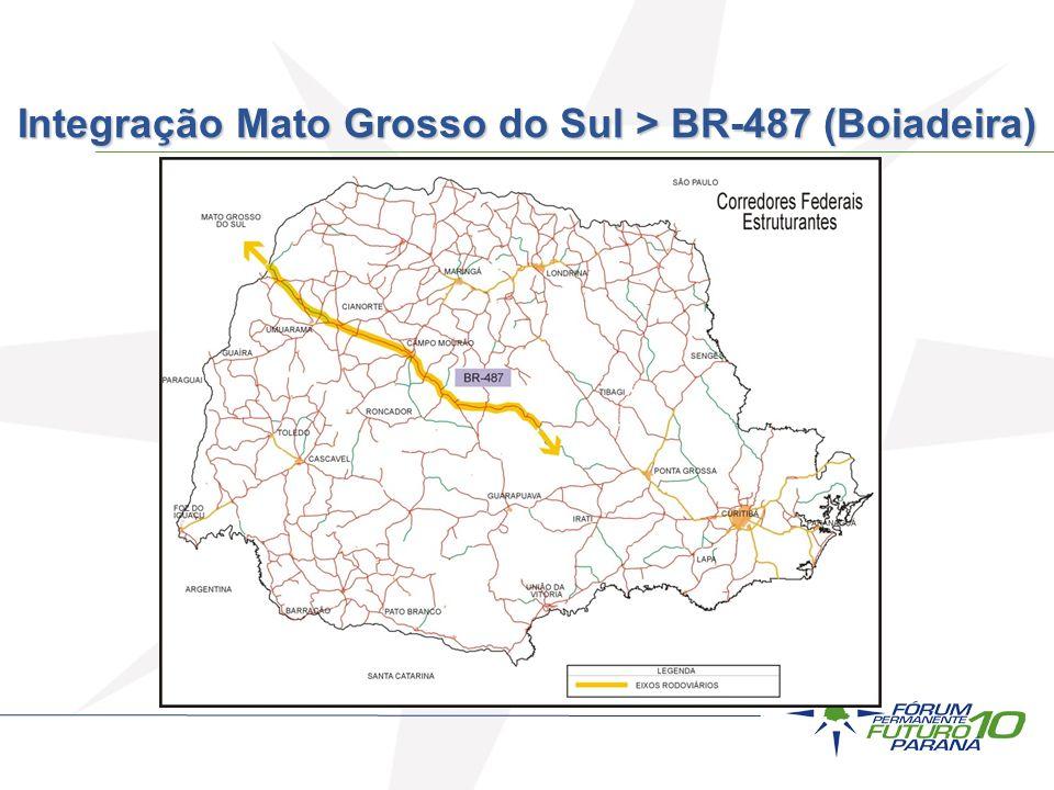 Integração Mato Grosso do Sul > BR-487 (Boiadeira)