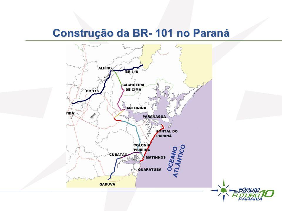 Construção da BR- 101 no Paraná