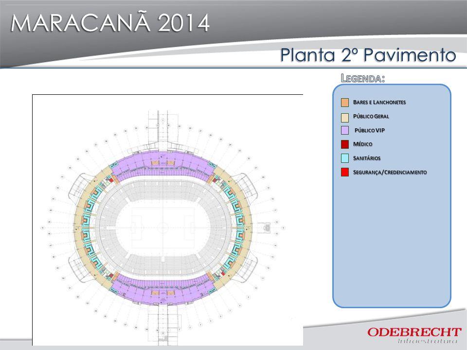 MARACANÃ 2014 Planta 2º Pavimento MARACANÃ 2014 P ÚBLICO G ERAL P ÚBLICO G ERAL S ANITÁRIOS S ANITÁRIOS B ARES E L ANCHONETES B ARES E L ANCHONETES S
