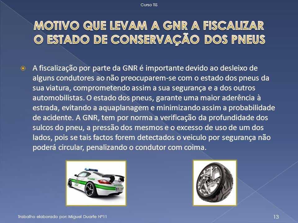 A fiscalização por parte da GNR é importante devido ao desleixo de alguns condutores ao não preocuparem-se com o estado dos pneus da sua viatura, comprometendo assim a sua segurança e a dos outros automobilistas.