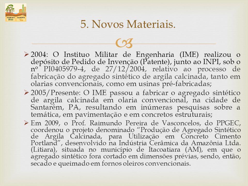 2004: O Instituo Militar de Engenharia (IME) realizou o depósito de Pedido de Invenção (Patente), junto ao INPI, sob o n o PI0405979-4, de 27/12/2004,