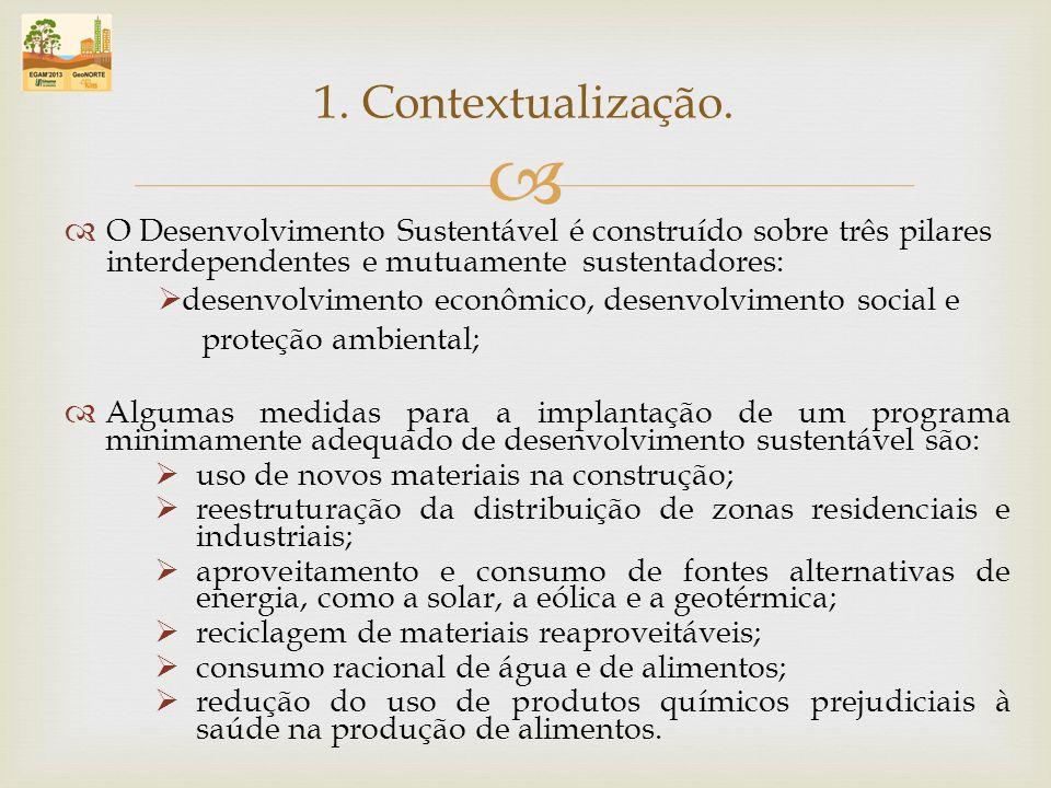 O Desenvolvimento Sustentável é construído sobre três pilares interdependentes e mutuamente sustentadores: desenvolvimento econômico, desenvolvimento