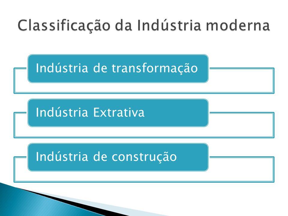 Indústria de transformaçãoIndústria ExtrativaIndústria de construção
