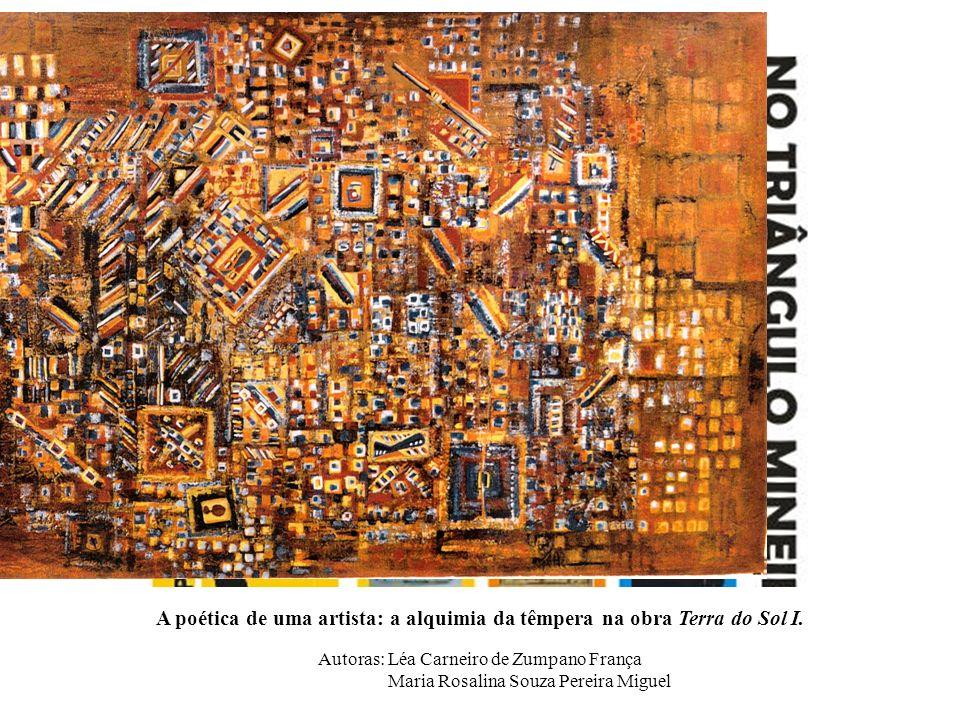 A poética de uma artista: a alquimia da têmpera na obra Terra do Sol I.