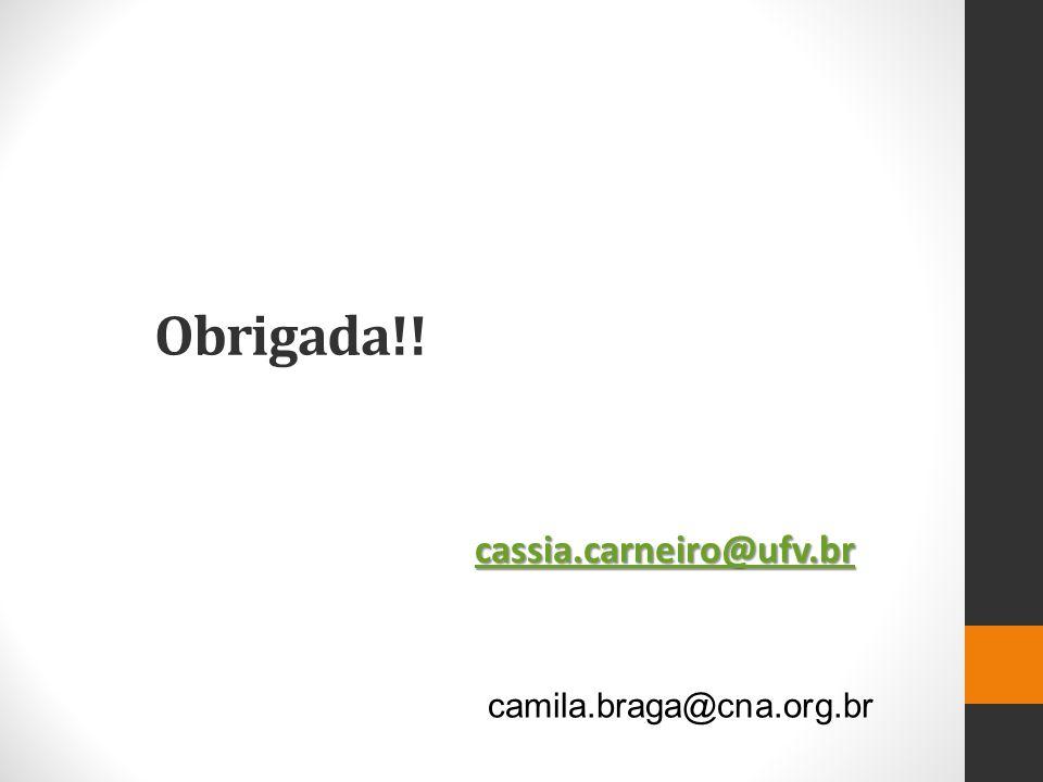 Obrigada!! camila.braga@cna.org.br cassia.carneiro@ufv.br