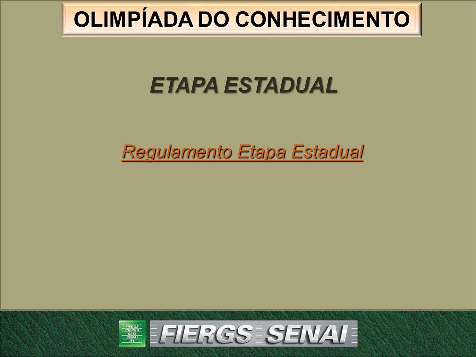 OLIMPÍADA DO CONHECIMENTO ETAPA ESTADUAL Avaliação 1 – Instrumento de registro da Avaliação Instrumento de registro da AvaliaçãoInstrumento de registro da Avaliação