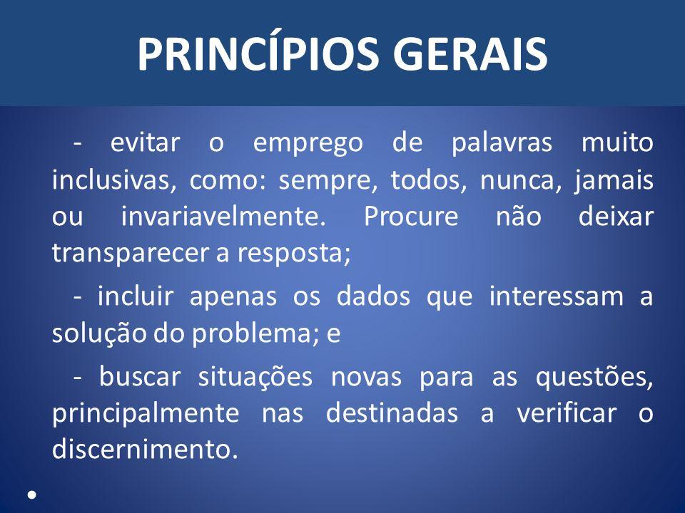 CONSTRUÇÃO DE QUESTÕES - ASSOCIAÇÃO - USAR ATÉ 10 ITENS NA COLUNA DA ESQUERDA; - NÚMERO DE ITENS DIFERENTES NAS DUAS COLUNAS (2 A 3 ELEMENTOS A MAIS); e - EVITAR ASSOCIAÇÃO DEVIDO AO GÊNERO E NÚMERO.