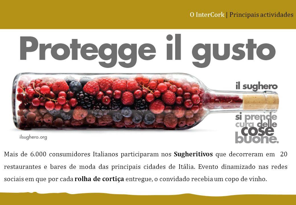 Mais de 6.000 consumidores Italianos participaram nos Sugheritivos que decorreram em 20 restaurantes e bares de moda das principais cidades de Itália.