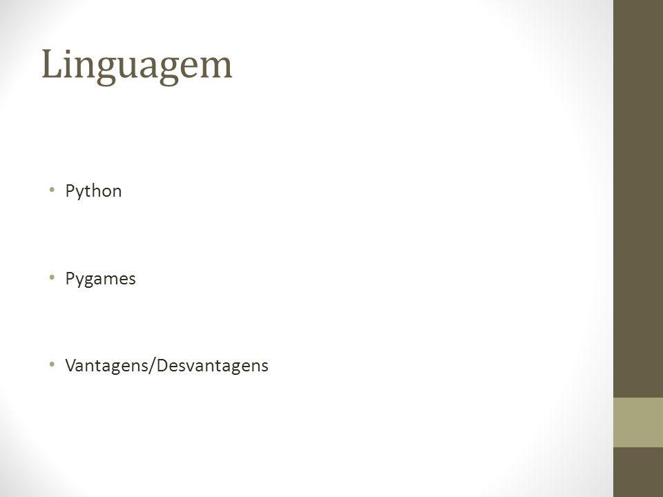 Linguagem Python Pygames Vantagens/Desvantagens