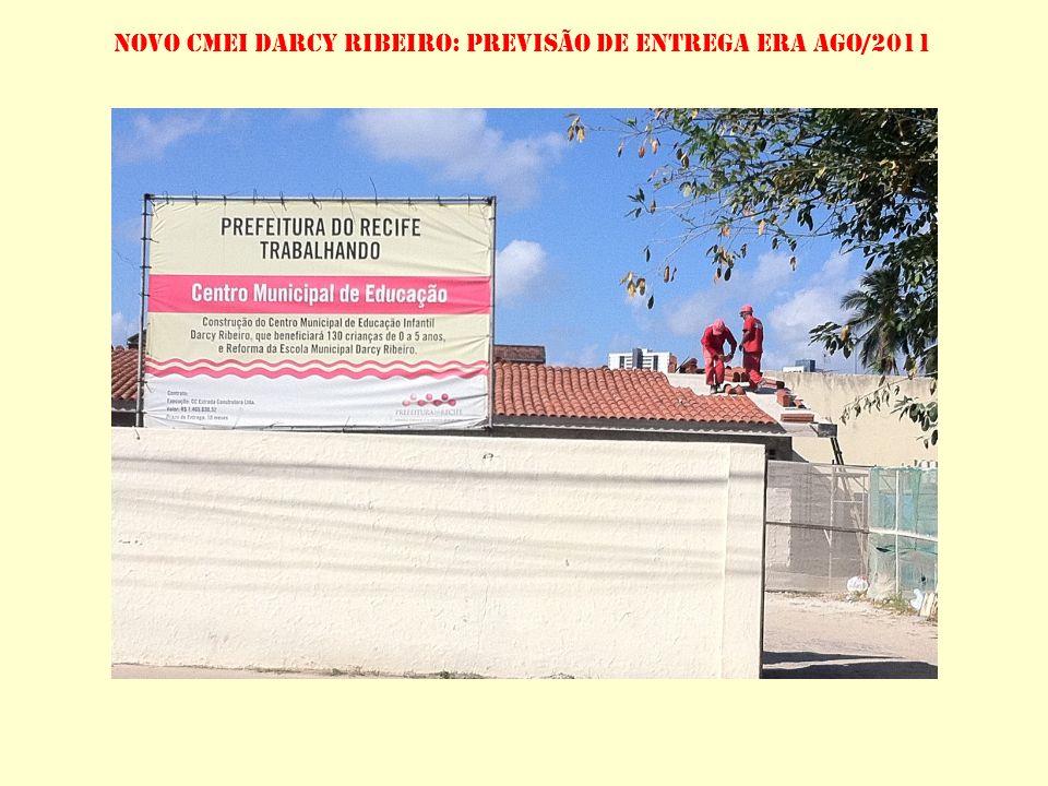 ÚNICO CENTRO NOVO EM CONSTRUÇÃO, CMEI DARCY RIBEIRO ESTÁ COM CRONOGRAMA COM MAIS DE SETE MESES DE ATRASO