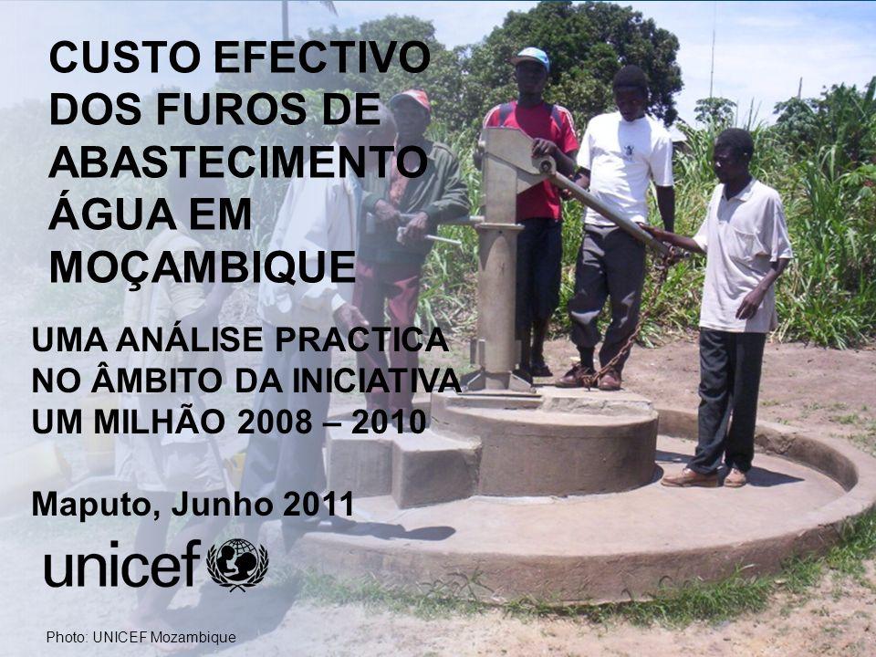 The One Million Initiative 2008 - 2010 Overview CUSTO EFECTIVO DOS FUROS DE ABASTECIMENTO ÁGUA EM MOÇAMBIQUE UMA ANÁLISE PRACTICA NO ÂMBITO DA INICIAT