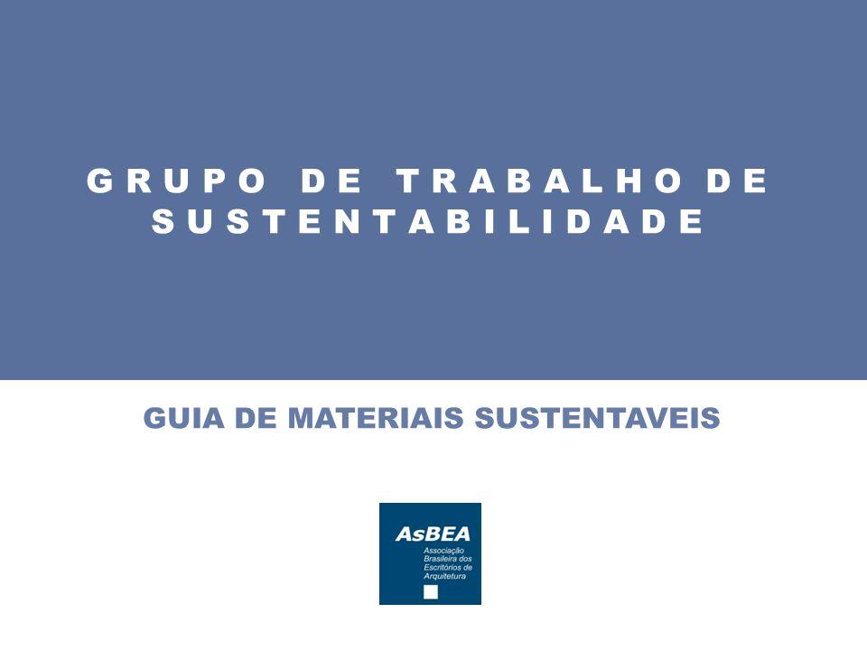 Grupo de Trabalho de Sustentabilidade da AsBEA (GTS) Subgrupo do Guia de Materiais Milene S.