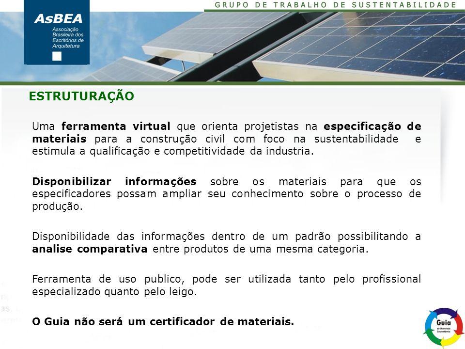 O Guia de Materiais Sustentáveis está disponível para testes no endereço: http://www.cspublisher.com/admin/produtos/ASUS/ PROTÓTIPO do SITE