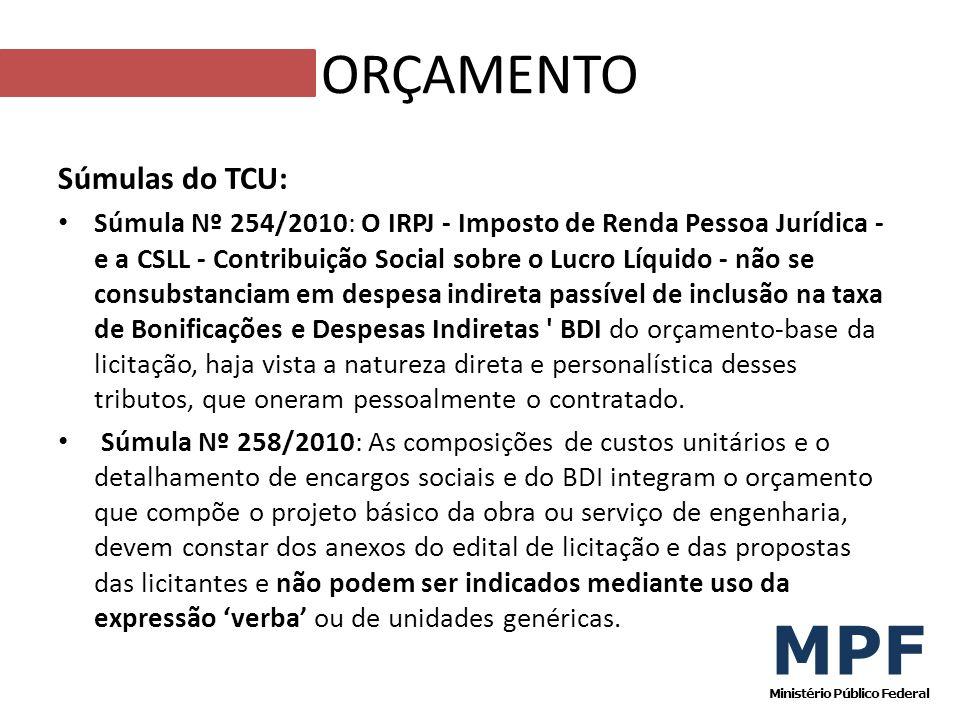Súmulas do TCU: Súmula Nº 254/2010: O IRPJ - Imposto de Renda Pessoa Jurídica - e a CSLL - Contribuição Social sobre o Lucro Líquido - não se consubst