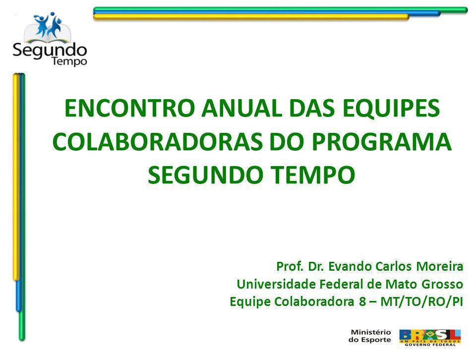 ENCONTRO ANUAL DAS EQUIPES COLABORADORAS DO PROGRAMA SEGUNDO TEMPO Prof. Dr. Evando Carlos Moreira Universidade Federal de Mato Grosso Equipe Colabora