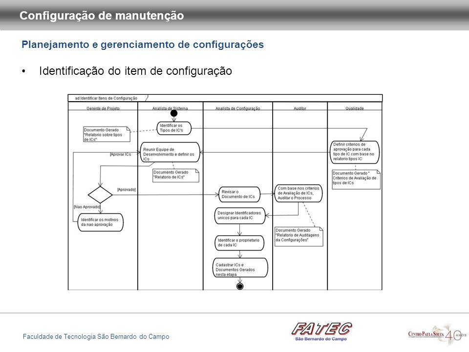 Configuração de manutenção Faculdade de Tecnologia São Bernardo do Campo As ferramentas de construção de sistema interpretam o script de construção e chamam outros programas quando necessário, para construir um sistema executável baseado em seus componentes, abaixo a ilustração do processo: Construção de sistemas
