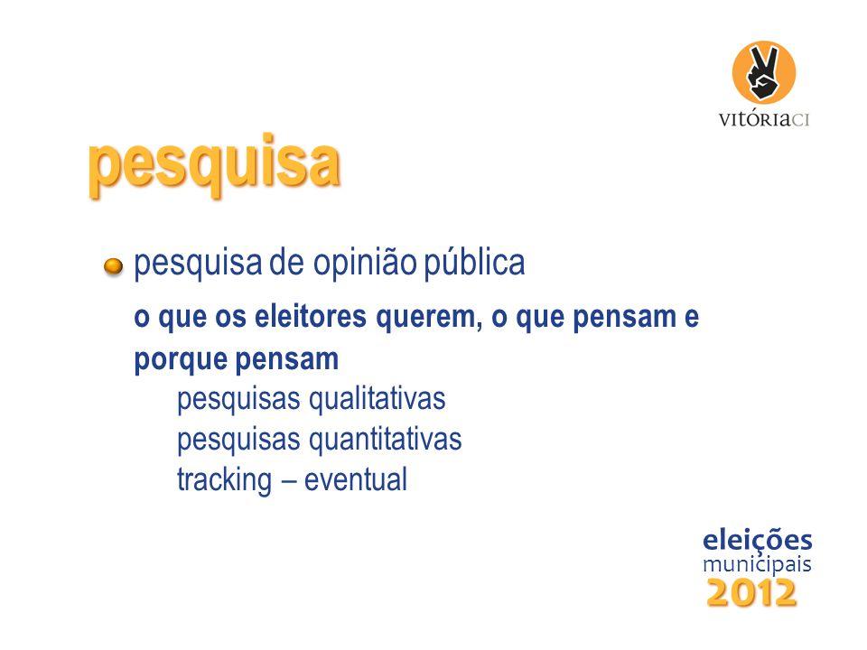 pesquisa pesquisa de opinião pública o que os eleitores querem, o que pensam e porque pensam pesquisas qualitativas pesquisas quantitativas tracking –