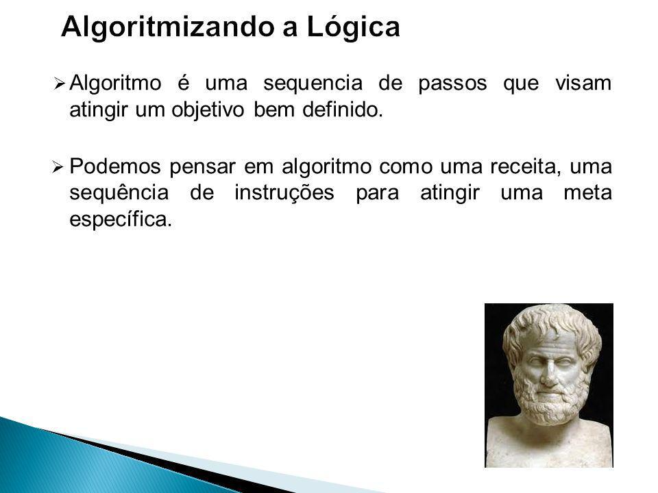 Algoritmo é uma sequencia de passos que visam atingir um objetivo bem definido.