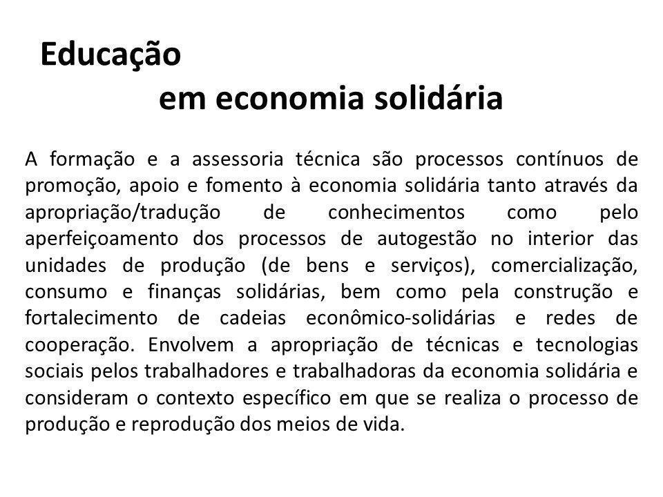 A prática do CFES visa: A consolidação da Rede de Educadoras-es.