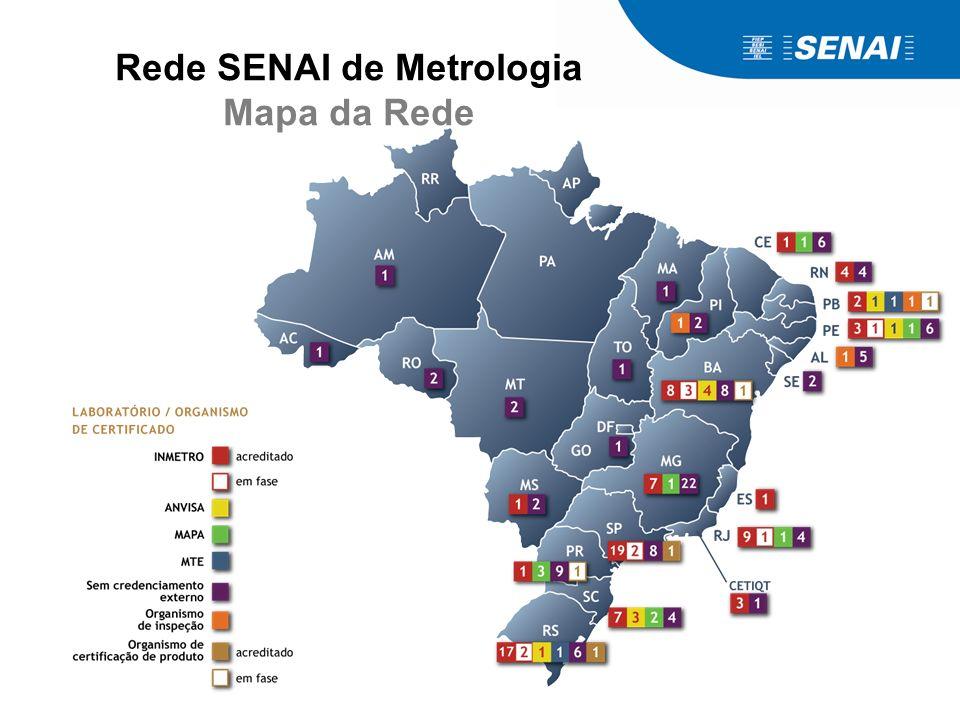 Rede SENAI de Metrologia Mapa da Rede
