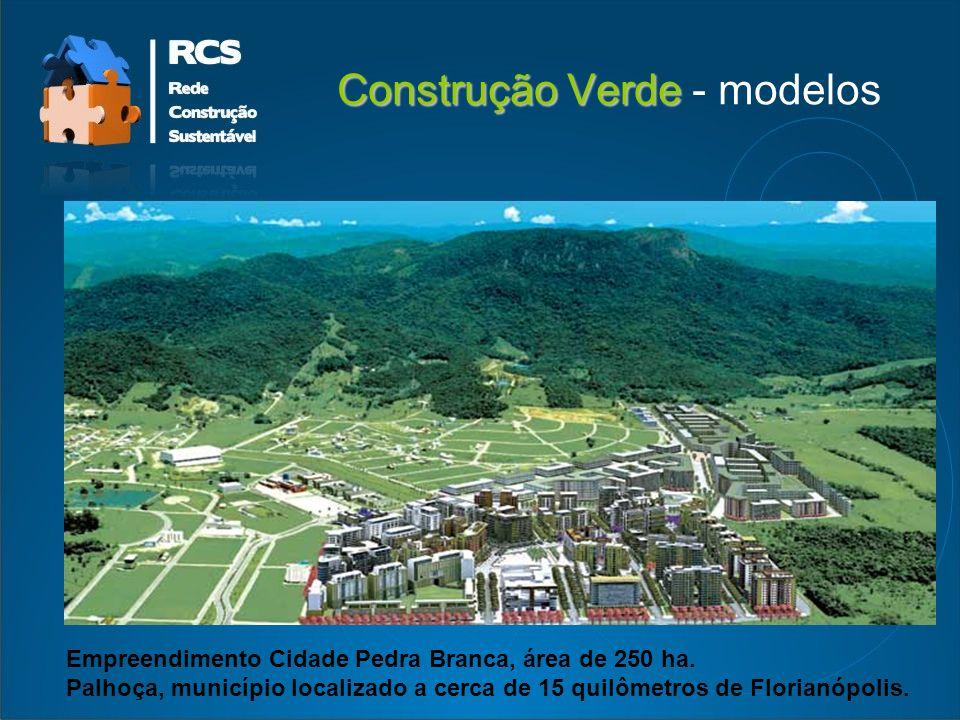 Construção Verde Construção Verde - modelos Empreendimento Cidade Pedra Branca, área de 250 ha.