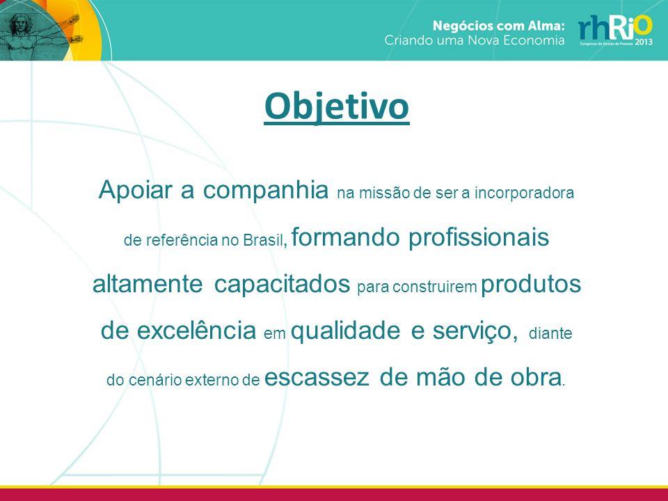 Apoiar a companhia na missão de ser a incorporadora de referência no Brasil, formando profissionais altamente capacitados para construirem produtos de excelência em qualidade e serviço, diante do cenário externo de escassez de mão de obra.