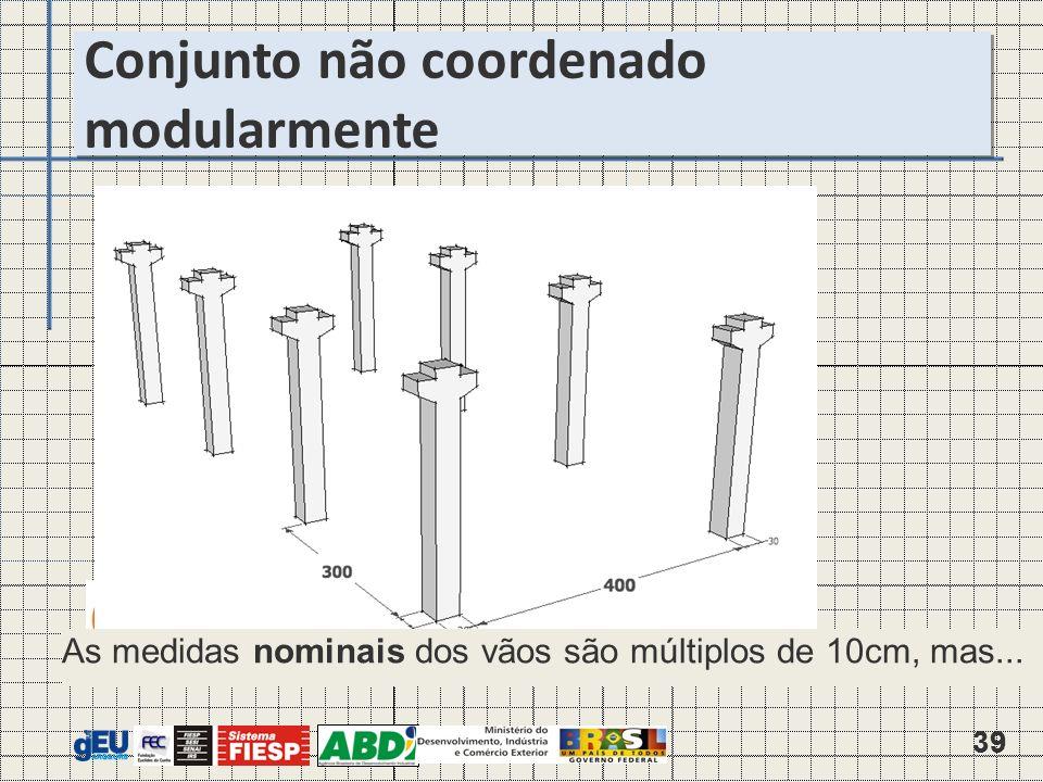 39 As medidas nominais dos vãos são múltiplos de 10cm, mas...