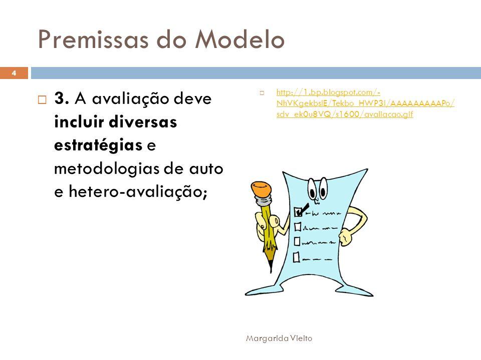 Premissas do Modelo 3. A avaliação deve incluir diversas estratégias e metodologias de auto e hetero-avaliação; http://1.bp.blogspot.com/- NhVKgekbsIE