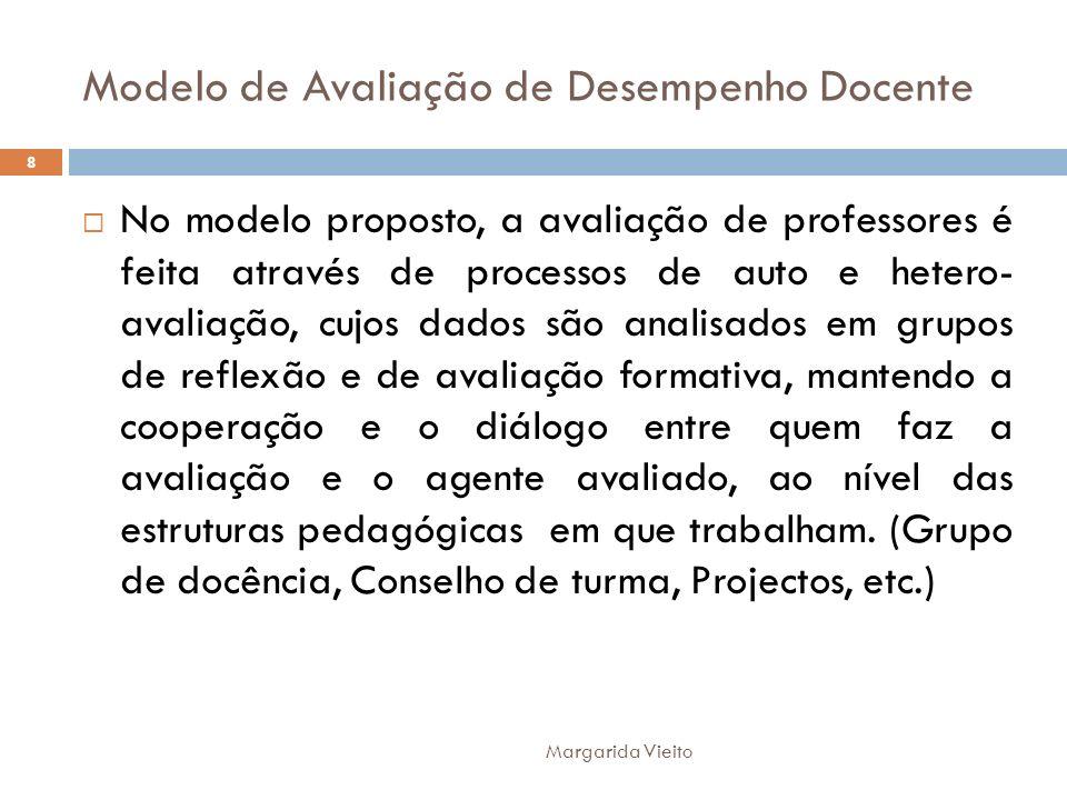 Modelo de Avaliação de Desempenho Docente No modelo proposto, a avaliação de professores é feita através de processos de auto e hetero- avaliação, cuj