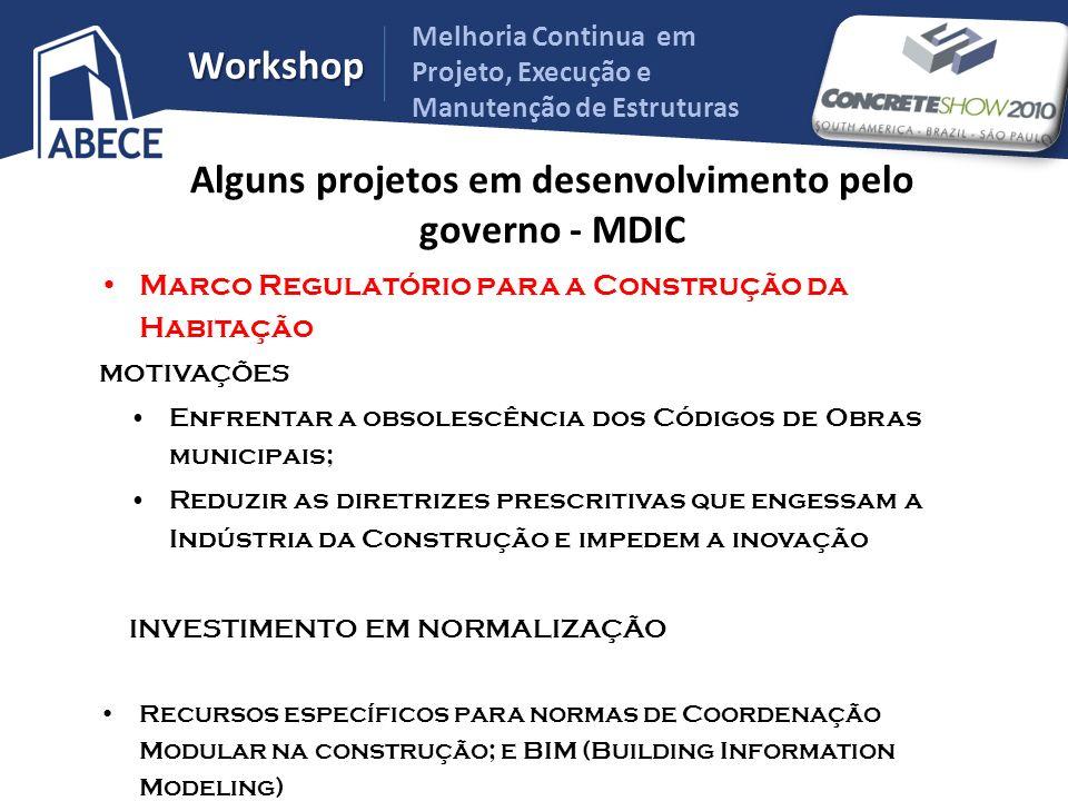 Melhoria Continua em Projeto, Execução e Manutenção de Estruturas Workshop Marco Regulatório para a Construção da Habitação MOTIVAÇÕES Enfrentar a obs