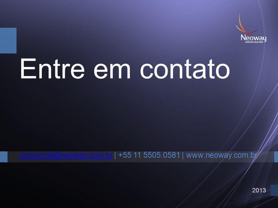2013 Entre em contato comercial@neoway.com.brcomercial@neoway.com.br   +55 11 5505.0581   www.neoway.com.br