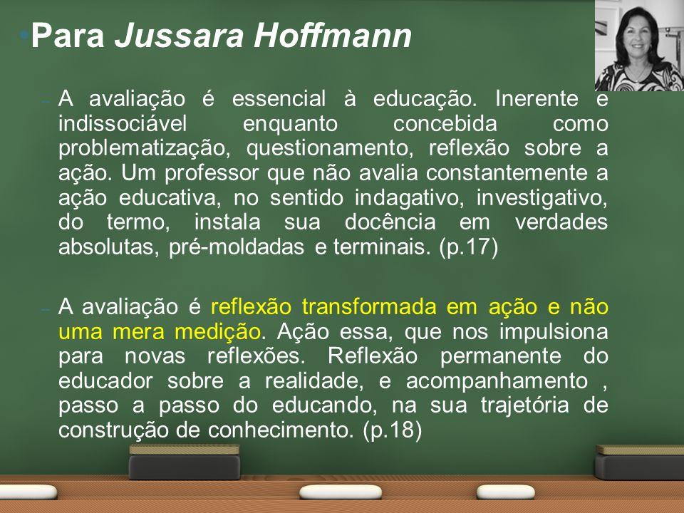 – A avaliação é essencial à educação.