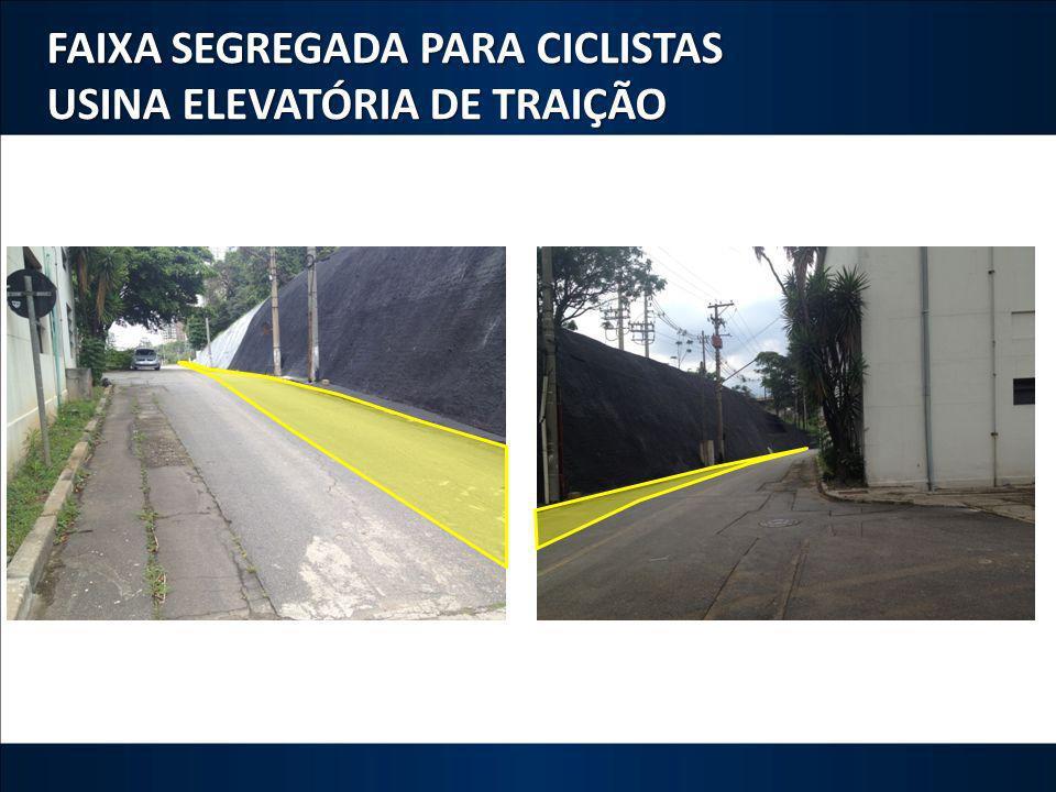 FAIXA SEGREGADA PARA CICLISTAS USINA ELEVATÓRIA DE TRAIÇÃO