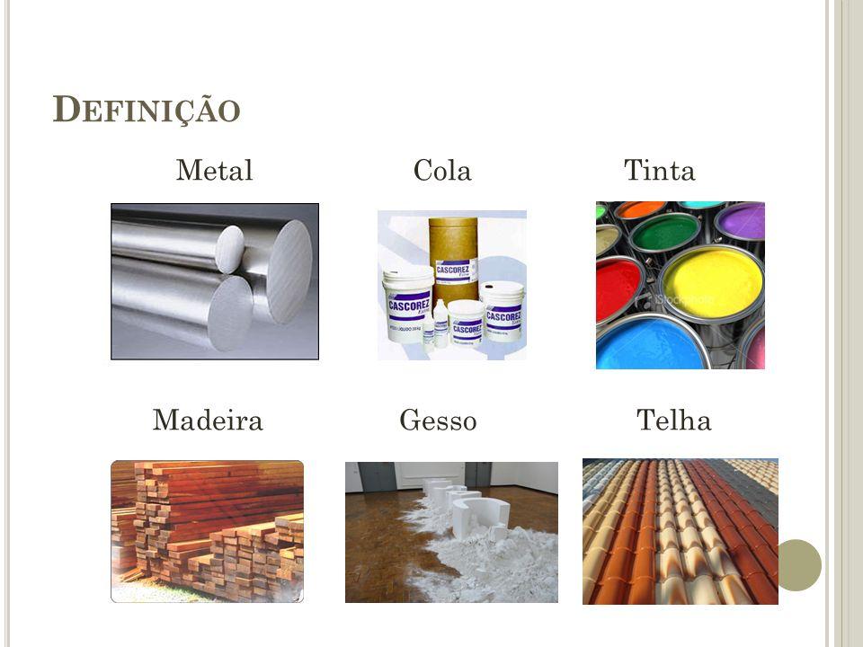 D EFINIÇÃO Pavimento asfáltico Vidro Plástico Tubulação Fiação elétrica
