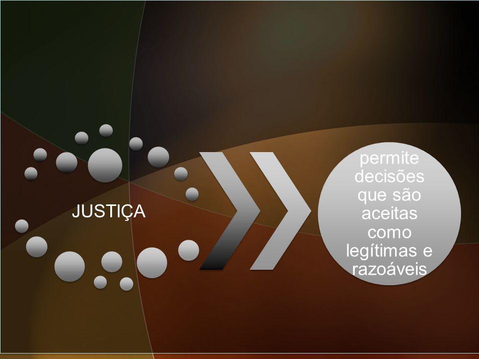 JUSTIÇA permite decisões que são aceitas como legítimas e razoáveis