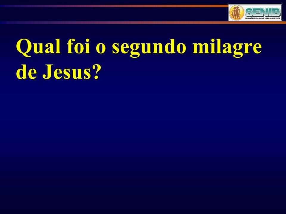 Qual foi o segundo milagre de Jesus?