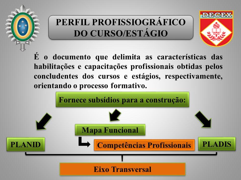 PERFIL PROFISSIOGRÁFICO DO CURSO/ESTÁGIO PERFIL PROFISSIOGRÁFICO DO CURSO/ESTÁGIO É o documento que delimita as características das habilitações e capacitações profissionais obtidas pelos concludentes dos cursos e estágios, respectivamente, orientando o processo formativo.