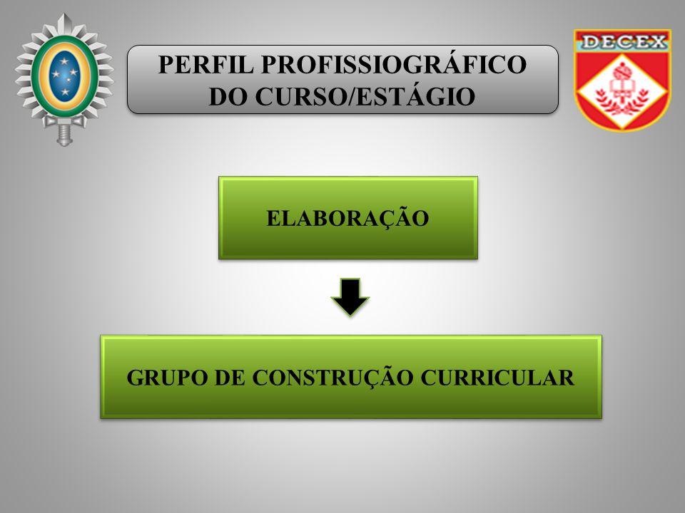 PERFIL PROFISSIOGRÁFICO DO CURSO/ESTÁGIO PERFIL PROFISSIOGRÁFICO DO CURSO/ESTÁGIO ELABORAÇÃO GRUPO DE CONSTRUÇÃO CURRICULAR